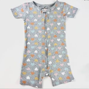 """Grey """"hearts"""" toddler one piece"""